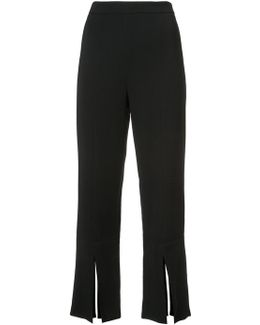 Slit Cropped Trousers