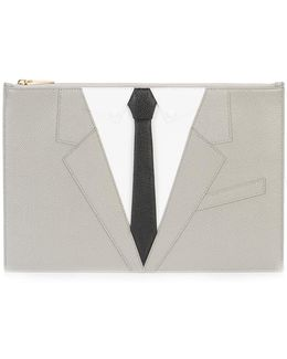 Suit Embroidered Clutch