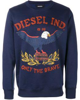 Embroidered Eagle Logo Sweatshirt