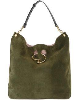 Green Suede Pierce Hobo Bag