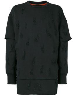 Distressed Layered Sweatshirt