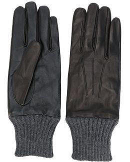 Ribbed Detail Gloves