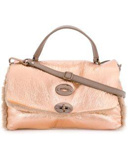Fur Trim Shoulder Bag