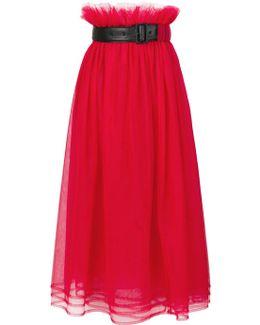 High Waisted Belted Skirt