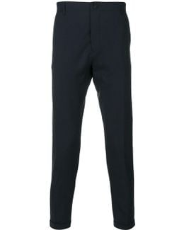 Rear Pocket Tapered Trousers
