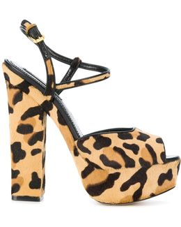 Leopard Print Ziggy Sandals