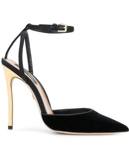 Contrast Heel Pumps