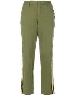 Side Stripe Cropped Trousers