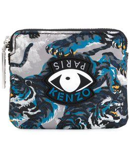 Eye Tiger Print Wallet