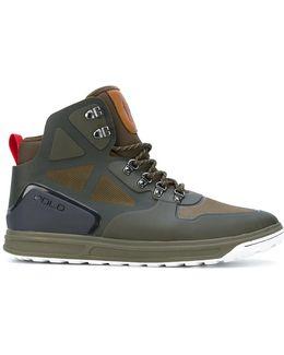 Hi-top Panelled Sneakers