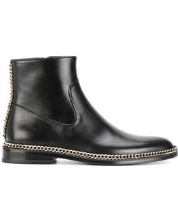 Chain Trim Ankle Boots