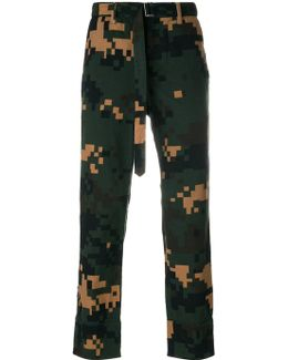 Pixelated Camouflage Trousers