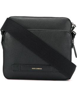Embossed Logo Messenger Bag
