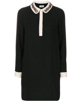 Ovina Embellished Collar Dress