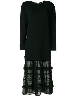 Ruffled Contrast Maxi Dress