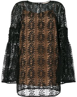 Bell Sleeves Lace Blouse
