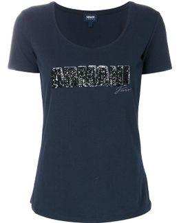 Sequin Logo Patch T-shirt