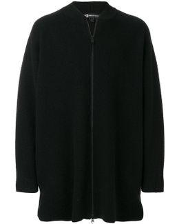 Printed Back Zip Up Jacket