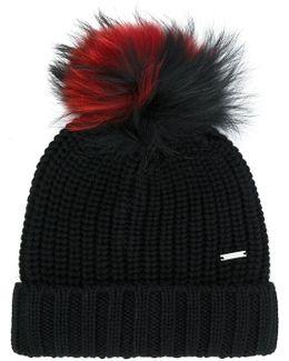 Pom-pom Knitted Hat