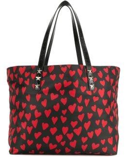 Heart Print Shopping Bag