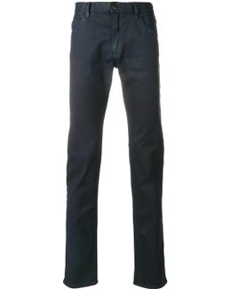 Roll Up Waxed Denim Jeans