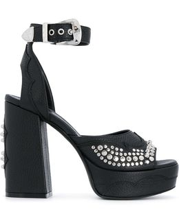 Studded Buckle Strap Pumps