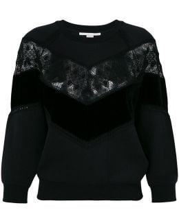 Lace-trimmed Sweatshirt