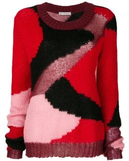 Camouflage Knitted Jumper