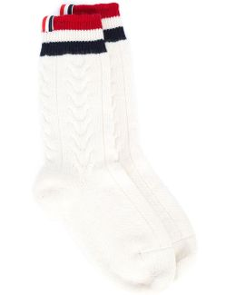Cashmere Cable-knit Socks