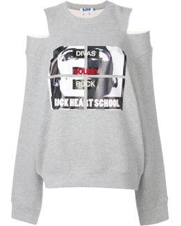 Cut-out Shoulder Sweatshirt