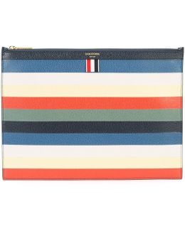 Striped Zip Pouch