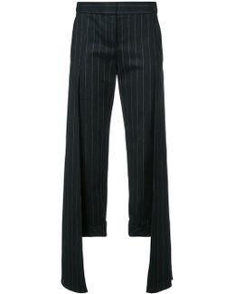 Pinstripe Layered Trousers