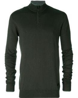 Zipped Collar Sweater