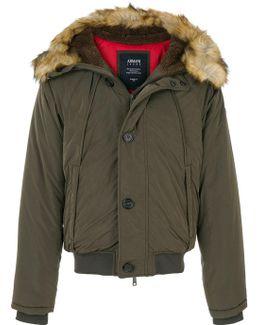 Faux Fur Trim Hooded Jacket