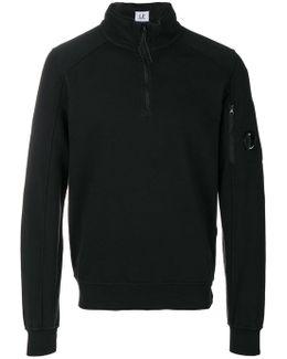 Zipped Collar Sweatshirt
