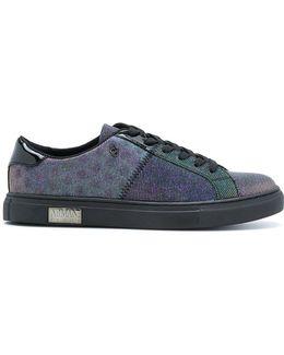 Metallic (grey) Panelled Sneakers