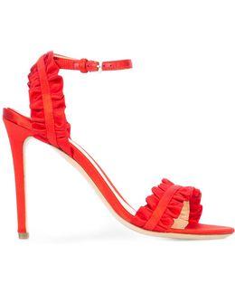 Ruffle Detail Stiletto Sandals
