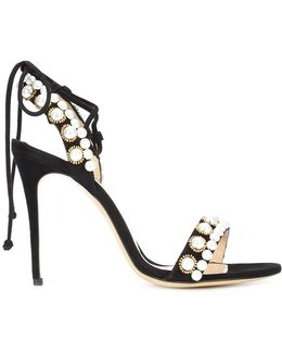 Pearl Detail Stiletto Sandals