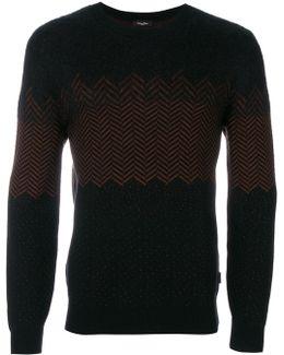 Contrast Knitted Sweatshirt