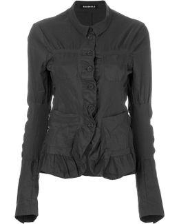 Ruffle Trim Crinkled Jacket
