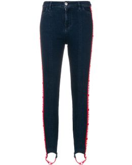 Stretch Denim Stirrup Jeans