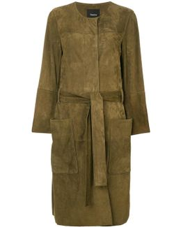 Belted Large Pocketed Coat