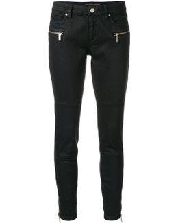 Zip Pocket Skinny Trousers