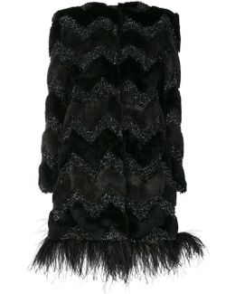 Faux Fur Embroidered Coat