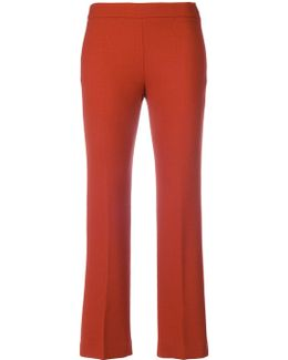 Cropped Straight Leg Trousers