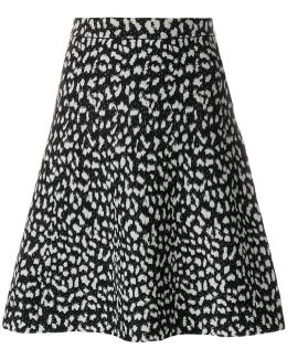 Flared Patterned Skirt