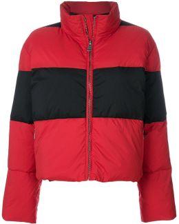 Block Stripe Puffer Jacket