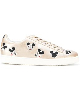 Mickey Mouse Print Sneakers