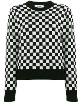 Checkboard Knitted Sweater