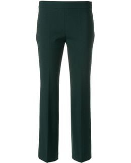 Cropped Tapered Trousers
